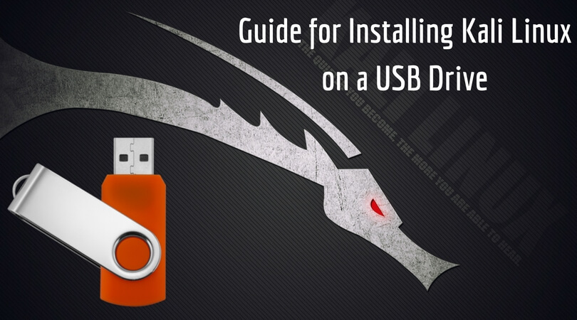 how to run kali linux from usb